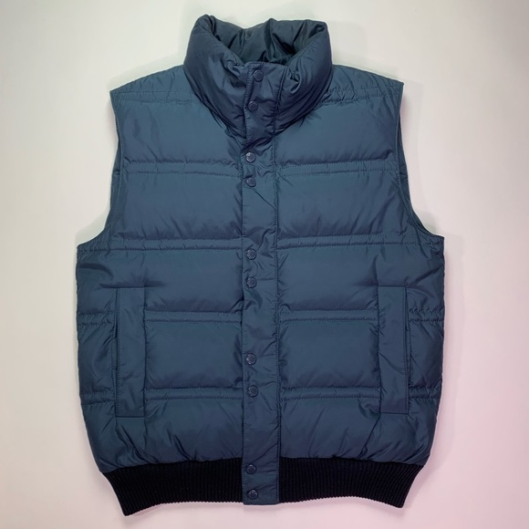 93447a205793d Hugo Boss Jackets & Coats | Hugo Mens Blue Puffer Vest Medium | Poshmark